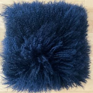 Mongolian Lamb Throw Pillows (set of 2)